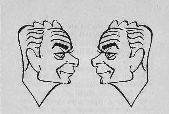 Caricatura de Di Stefano feta pel cèlebre periodista Manuel del ARCO (La Vanguardia, 26-o5-1953)