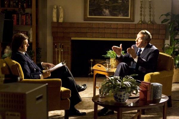 Michael Sheen como Frost y Frank Langella como Nixon en 'El Desafío: Frost contra Nixon', de Ron Howard